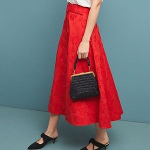 Anthropologie Sandra Belted Skirt